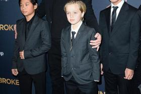 FAMILY TROUBLE: The Los Angeles Police Department reportedly began probing actor Brad Pitt over alleged abuse of his children, among them Pax Jolie-Pitt (left), Shiloh Jolie-Pitt (middle) and Maddox Jolie-Pitt (right).