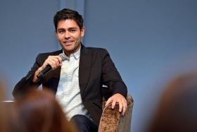 SOUND ADVICE: Adrian Grenier (above), best known for his leading role in Entourage, was in town for the ArtScience On Screen: In Conversation With series, sharing advice with students about the risks involved in an arts career.