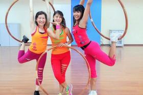FIT: Hoop Fitness was founded by fitness enthusiasts (from left) Rozie Lim, Megan Tan and Aenice Loh.