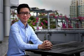 SAVVY: Mr Nicholas Tan Wei Hong, 22, has come a long way since he started trading two years ago.