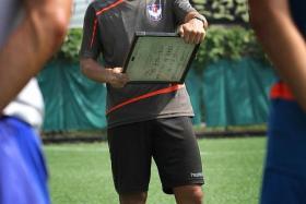 Albirex coach Naoki Naruo.