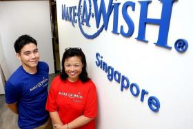 FOR THE CHILDREN: Make-A-Wish Foundation Singapore's programme executive Jan Kok and volunteer wish granter Suzanne Liu.