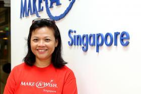 Make-A-Wish Foundation Singapore's volunteer wish granter Suzanne Liu