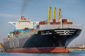 CRASH: The collision happened between ships Hanjin New York (above) and MSC Claudia.