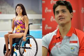 National athletes Yip Pin Xiu (left) and Joseph Schooling (right).