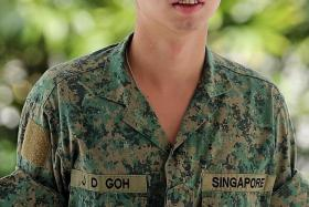 GUILTY: Full-time national serviceman Jandej Goh pleaded guilty to his racing and speeding offences.