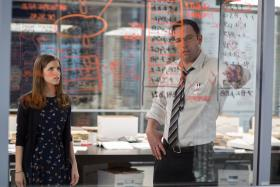 Anna Kendrick (left) and Ben Affleck (right) in The Accountant
