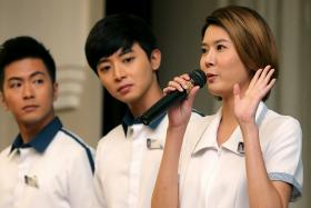 (left to right) Xu Bin, Aloysius Pang and Carrie Wong will star in You Can Be An Angel 2.