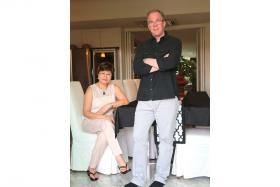 GIVING: Mrs Janice O'Connor and her husband, group CEO of Courts Asia Terry O'Connor.