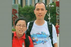 Police are investigating the deaths of Mr Wang Chan Foo (right) and his wife, Madam Ng Soo San (left), at Novena Suites condominium.