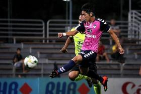 RESTED? Albirex Niigata star Tatsuro Inui (above, foreground) could miss their final S.League match of the season to keep him fresh for Saturday's Singapore Cup final.