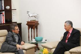 TALK: Prime Minister Lee Hsien Loong with Time Magazine's editor-at-large and foreign affairs columnist Ian Bremmer.
