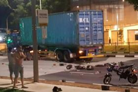 An accident involving e-bikes along West Coast Highway last night left one dead.