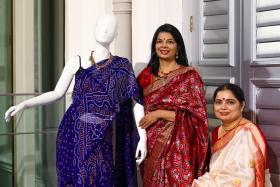 KNOWLEDGEABLE: Both Madam Sudha Kanago (left) and Madam Sarita Alurkar-Sriram (right) have an extensive collection of saris.