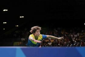 """This table tennis career is what I have worked hard for so many years, so I will not give up easily."" — Feng Tianwei (above)"