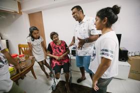 FAMILY: Lakashana Niyankri with her grandmother, Madam Agnes Sandanam and Mr Logapreyan Renganathan with his daughter Anoushka.