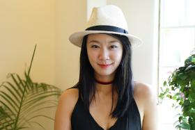 ON SET: Local actress Julie Tan (above) spent four months in New York attending a course.