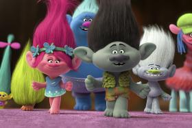 Trolls, featuring the voices of Anna Kendrick and Justin Timberlake
