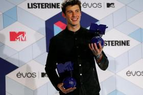 BEST MALE: Canadian singer Shawn Mendes beats compatriot Justin Bieber to the title at the 2016 MTV Europe Music Awards in Rotterdam