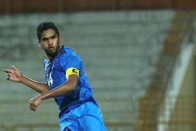 REDEMPTION TIME: Lions' vice-captain Hariss Harun, who did not play in the 2-1 loss to Cambodia in July, is hoping to make amends tomorrow.