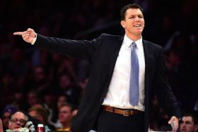 """""""It's just a confidence thing, honestly. It's them having faith. Trusting in each other... That's why you see so many different guys for us make big plays."""" - Los Angeles Lakers coach Luke Walton (above) on his young team"""