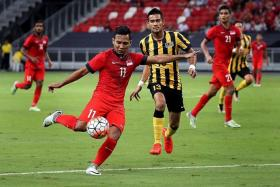 WILD CARD: Sahil Suhaimi (in red) could be the joker in Sundram's pack.