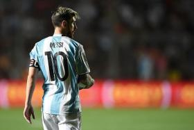 JUST TOO GOOD: Messi scores one and sets up two in Argentina win.