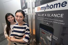 NO PLACE LIKE HOME: (From left) Chief executive officer and executive director of Ohmyhome, Ms Rhonda Wong and Ms Race Wong, launched the app's new Open House service yesterday.