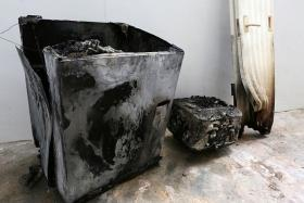 BURNT: Samsung says the fire was likely caused by an electrical short circuit.