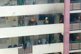 ON FIRE: Tan Yan Phor was given a discharge amounting to an acquittal for starting the fire in his unit at Block 116, Jalan Bukit Merah, in April.