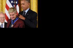 Corden to be 'perfect' host of Grammys Obama awards teary Ellen Medal of Freedom Adele's son gives sweet post-tour gift