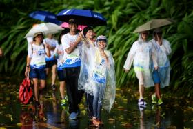 This year's Big Walk saw many families and friends who have bonded with each other at the Singapore Zoo and Night Safari.