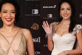 Shu Qi, Tiffany Hsu on the red carpet at The Golden Horse Awards 2016