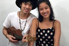 MUSIC LOVERS: Mr Dru Chen and Ms Melyssa Goh form the duo Melodrumatic and will be holding their first charity concert, beCAUSE. The event supports Healthserve, a local non-profit organisation that provides medical care for migrant workers.