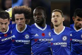 (From left) The Fab Five from Chelsea include Eden Hazard, David Luiz, Victor Moses, Nemanja Matic and Diego Costa.