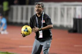 Lions coach V Sundramoorthy.