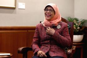 Speaker of Parliament Madam Halimah Yacob.