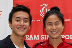 The Quah siblings (from left) Zheng Wen and Ting Wen.