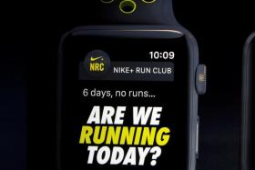 Mr Trevor Edwards, president of Nike brand, discussing the Apple Watch with Nike+ in September.