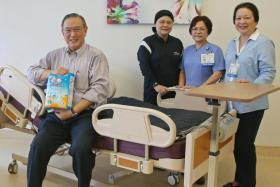 (From left) Mr Gerard Ee and his team members Zahara Mahmood, Fong Poh Chee and Iris Leong.