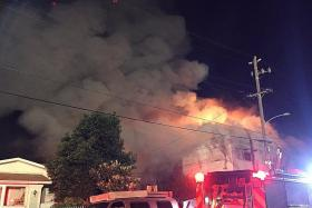 Blaze in US ravages dance party