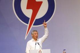 Prime Minister Lee Hsien Loong, who is the PAP's secretary-general, calls on the party's members to help ensure it retains strong support.