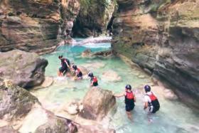 Adventure seekers should not miss the Kawasan Falls for canyoneering.