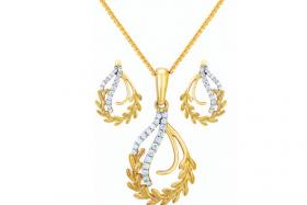 Joyalukkas Jewellery's exquisite jewellery set.