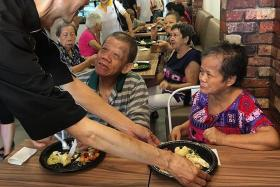 he feeds elderly to give back to community