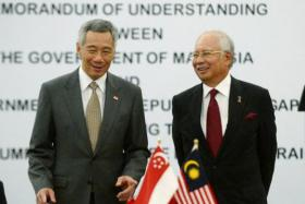 Prime Minister Lee Hsien Loong and Malaysian PM Najib Razak will witness the signing of a bilateral agreement for the high-speed rail linking Singapore and Kuala Lumpur.