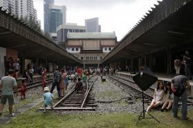 Thee historic former Tanjong Pagar Railway Station.