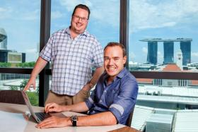 Michael Blakey (L) and William Klippgen (R) who have now joined forces to set up a new $10 million seed venture firm in Singapore called Cocoon Capital