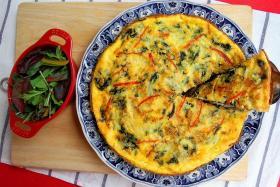 Italian omelette, Singapore style