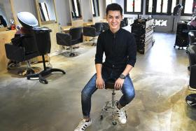 ITE graduate Noel Ng fulfilled his lifelong dream by opening his hair salon last month.